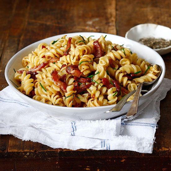 Fusilli with Bacon and Chives