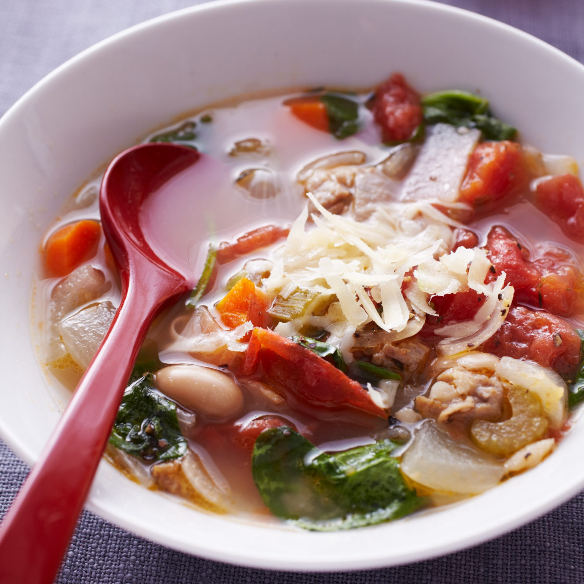 Minestrone with White Beans and Italian Sausage