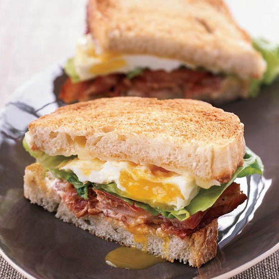BLT Fried Egg-and-Cheese Sandwich
