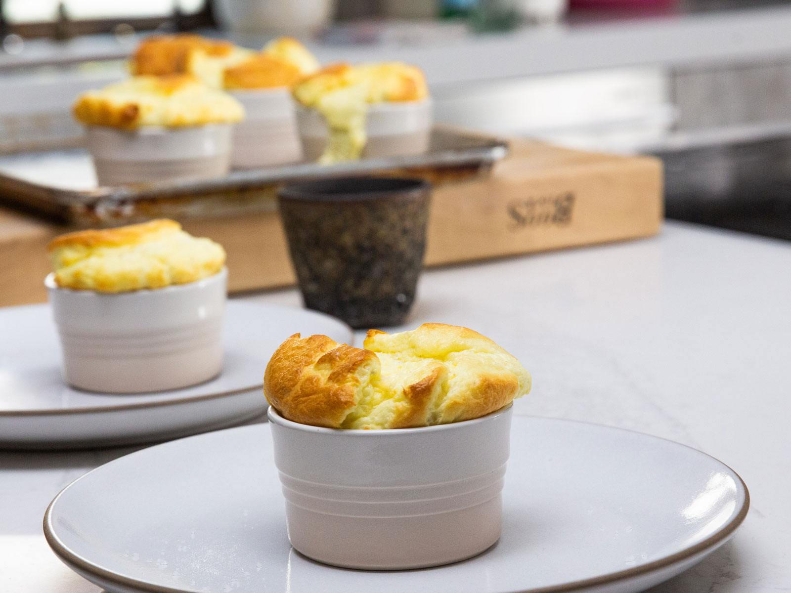 Goat Cheese Soufflé