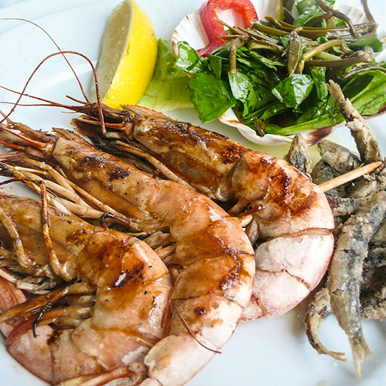 Dalmatia in 10 Plates: Grilled Shrimp with Papalina Fish