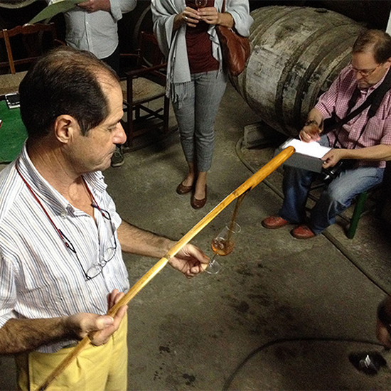 Chef Dream Trip to Southern Spain: Tapping a barrel