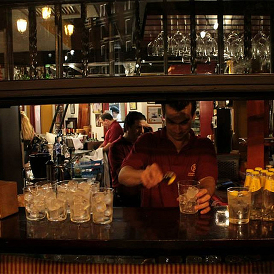 Chef Dream Trip to Southern Spain: Bartender mixing gin and tonic