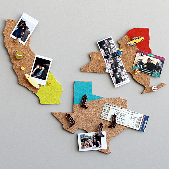 State Pride Home Design: State-Shaped Memo Boards Kit