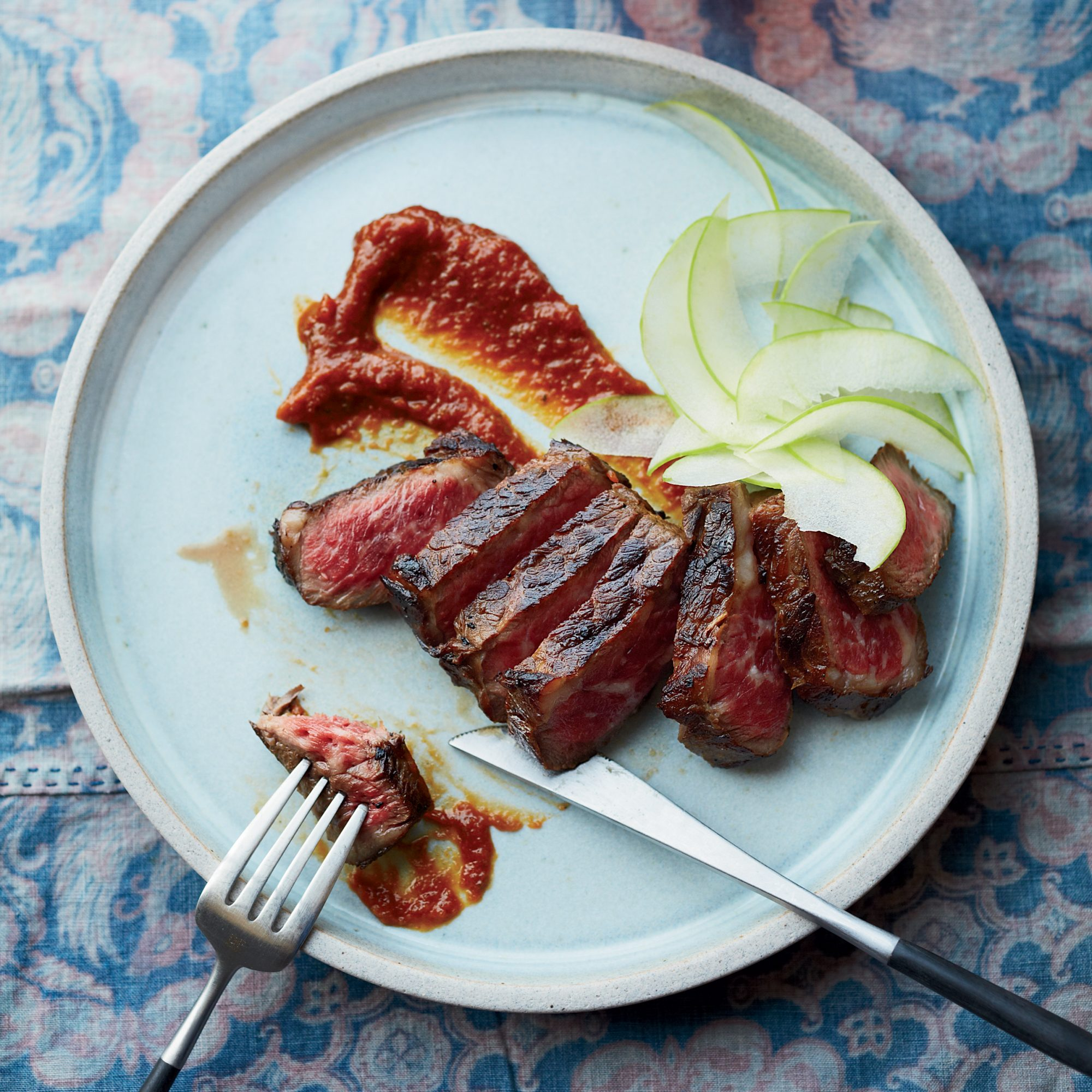 Grilled Apple-Marinated Short Ribs
