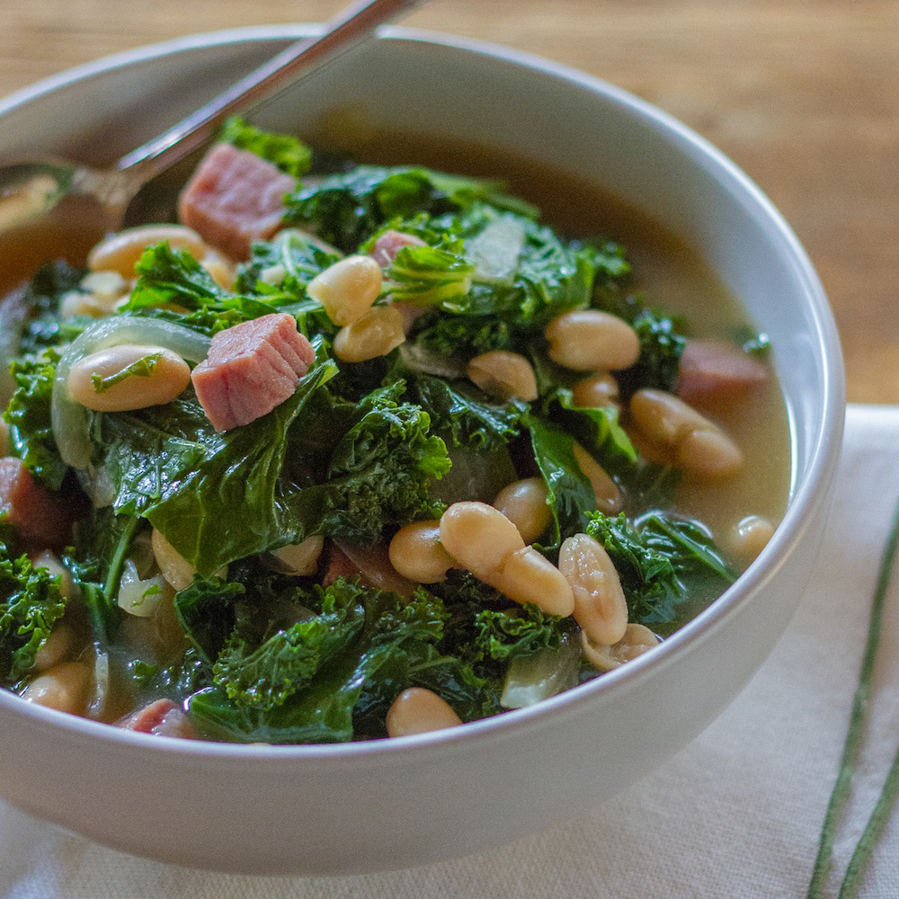 White Bean Stew with Kale