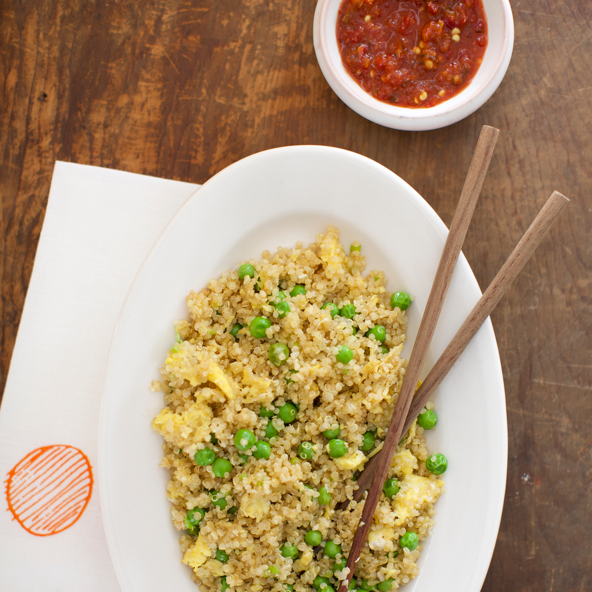 Fried Quinoa with Scallions, Ginger and Garlic
