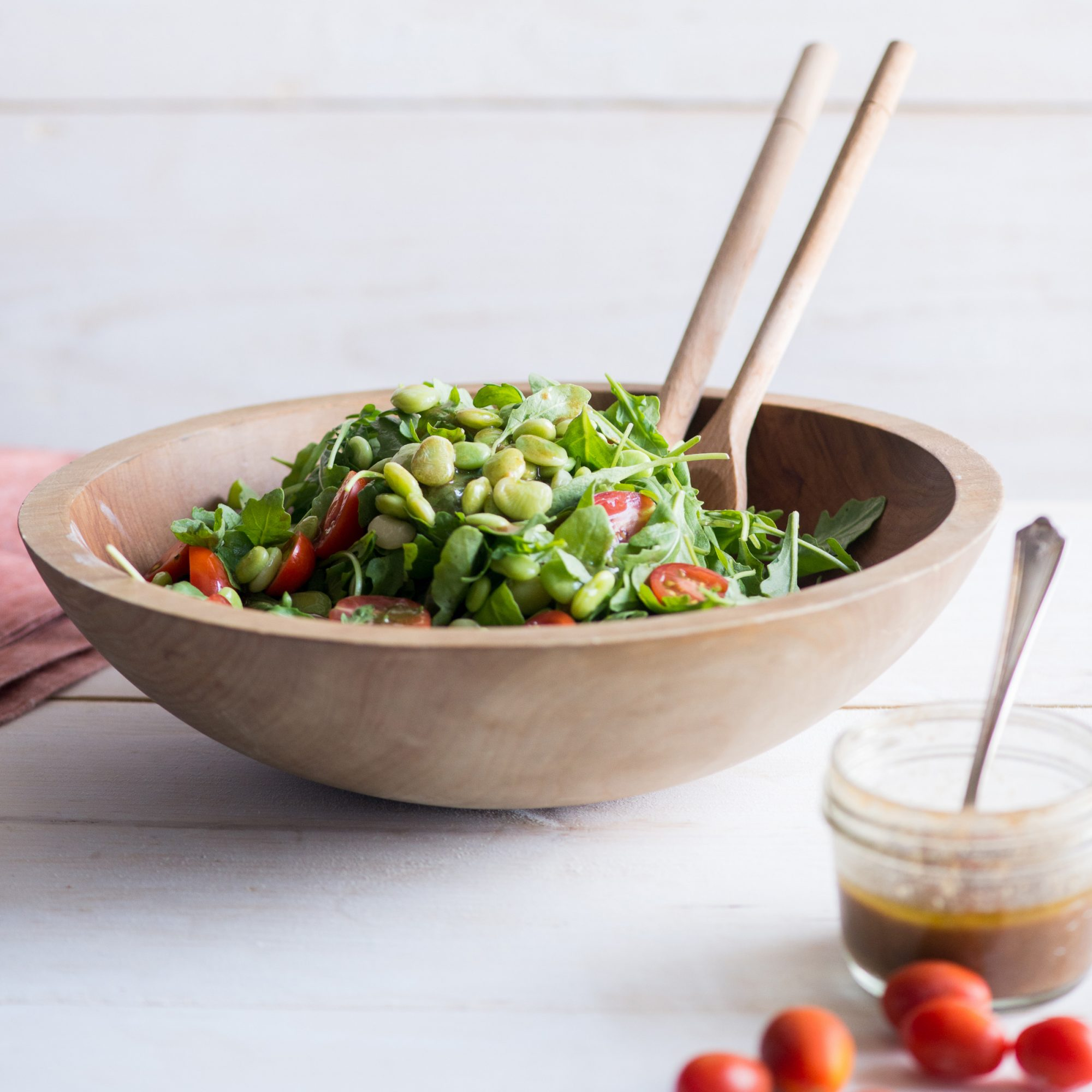 Lima Bean, Arugula and Tomato Salad