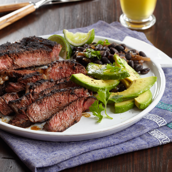 Rick Bayless's Carne Asada with Black Beans