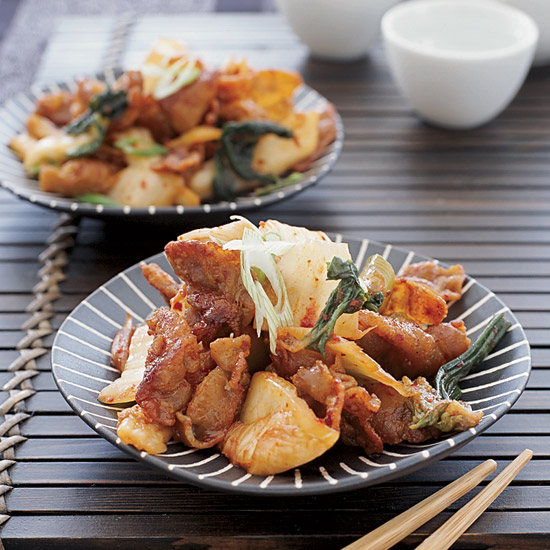 Stir-Fried Pork Belly with Kimchi