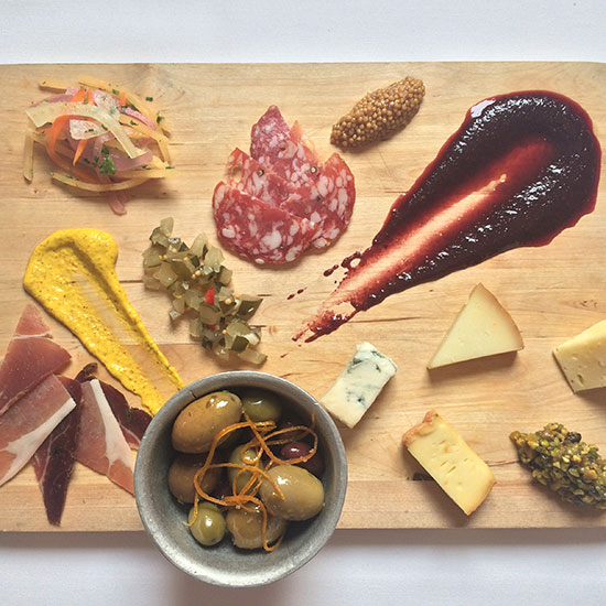 Cincinnati in 10 Plates: Meat and Cheese Board from Bouquet