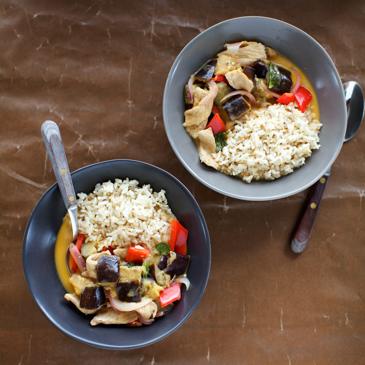 Thai Red Curry with Pork and Eggplant