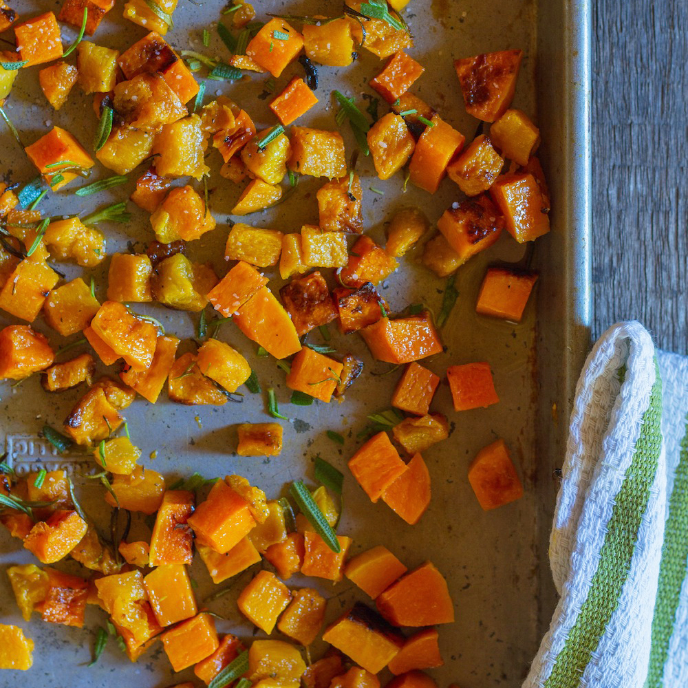 Butternut Squash Roasted with Rosemary and Sea Salt