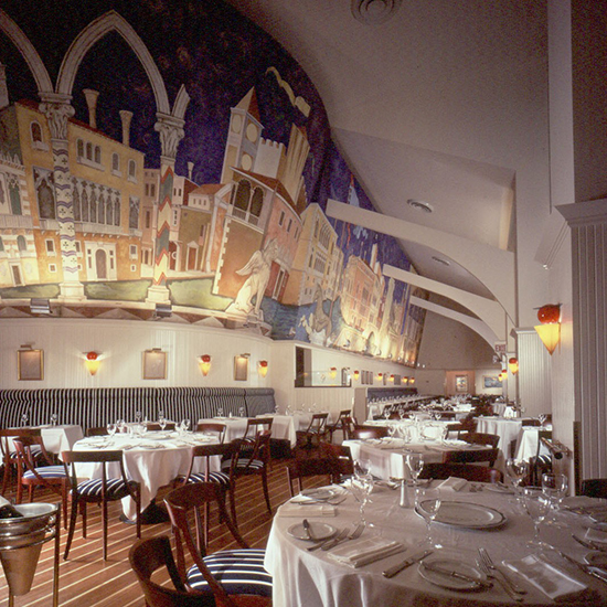 Iconic Restaurant Designs by Adam Tihany: The Venetian Mural at Remi