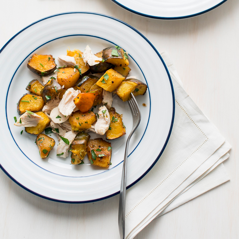 Healthy Chicken and Roasted Acorn Squash