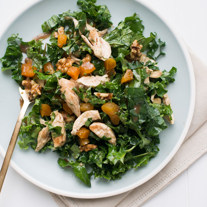 Healthy Chicken and Kale Salad