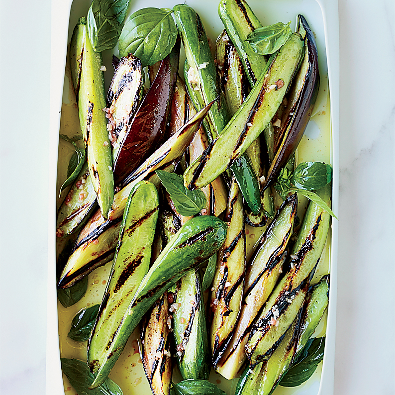 Grilled Cucumbers and Eggplant