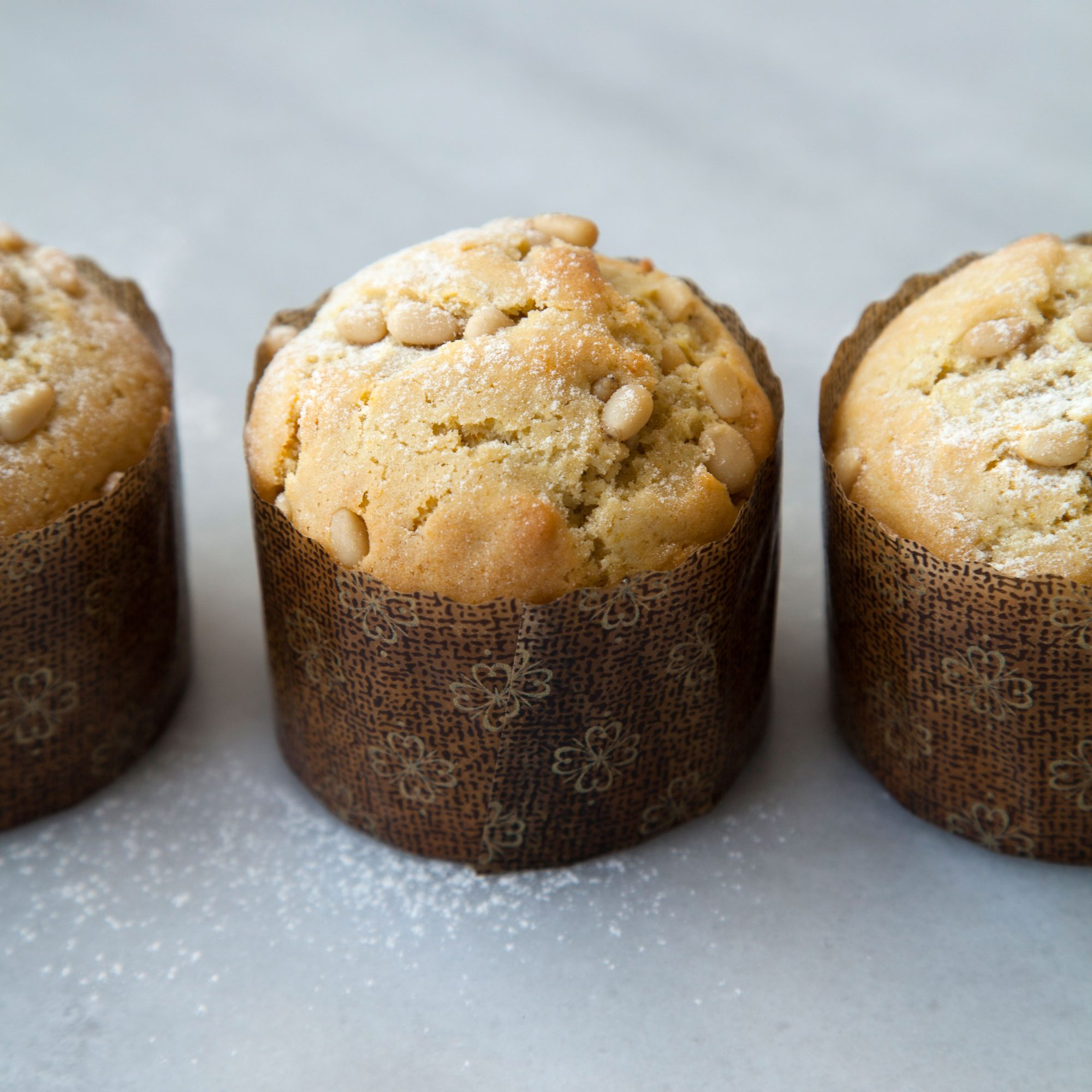 Olive Oil Muffins with Pine Nuts