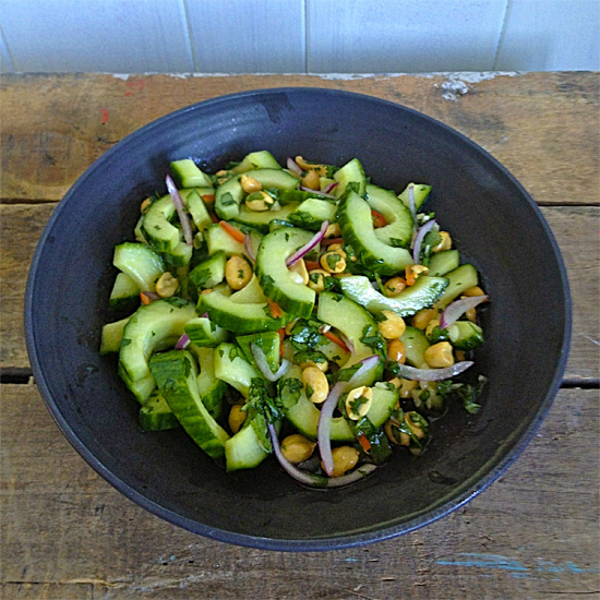 Thai Cucumber Salad with Peanuts