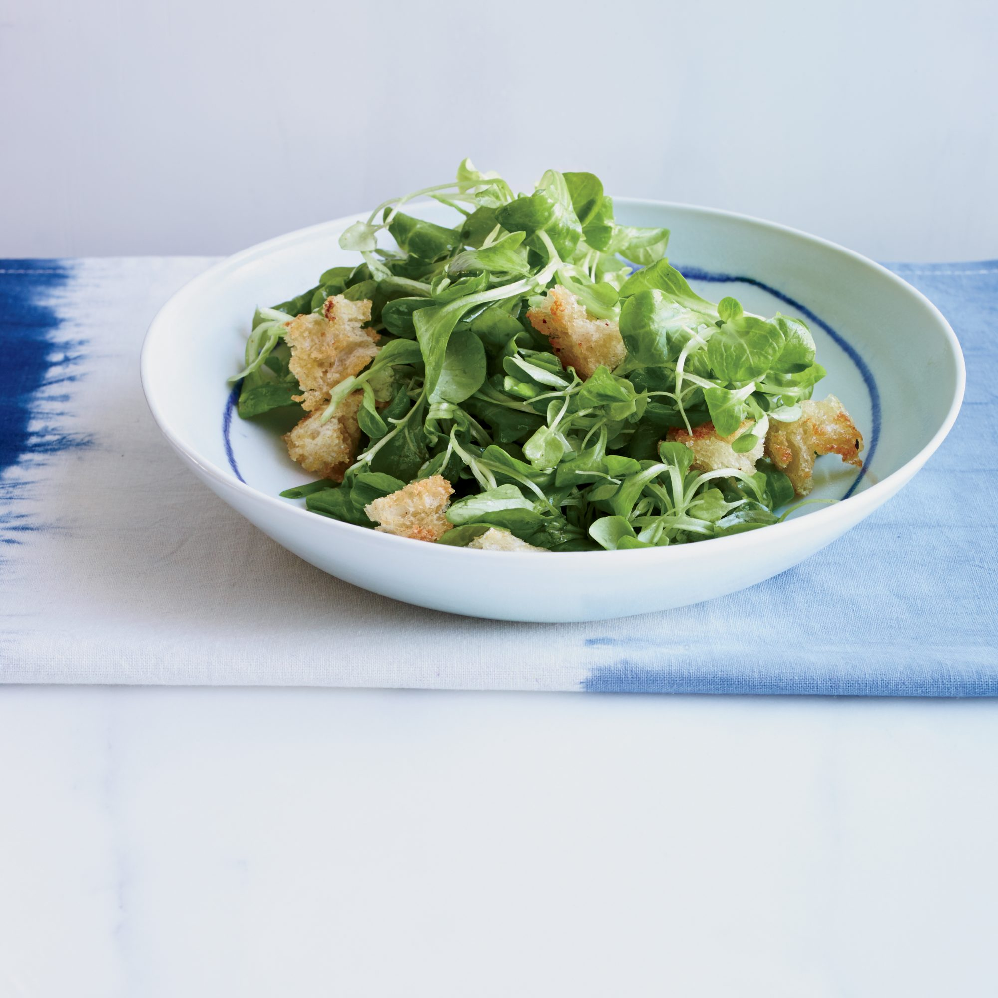 Mâche Salad with Curry Vinaigrette