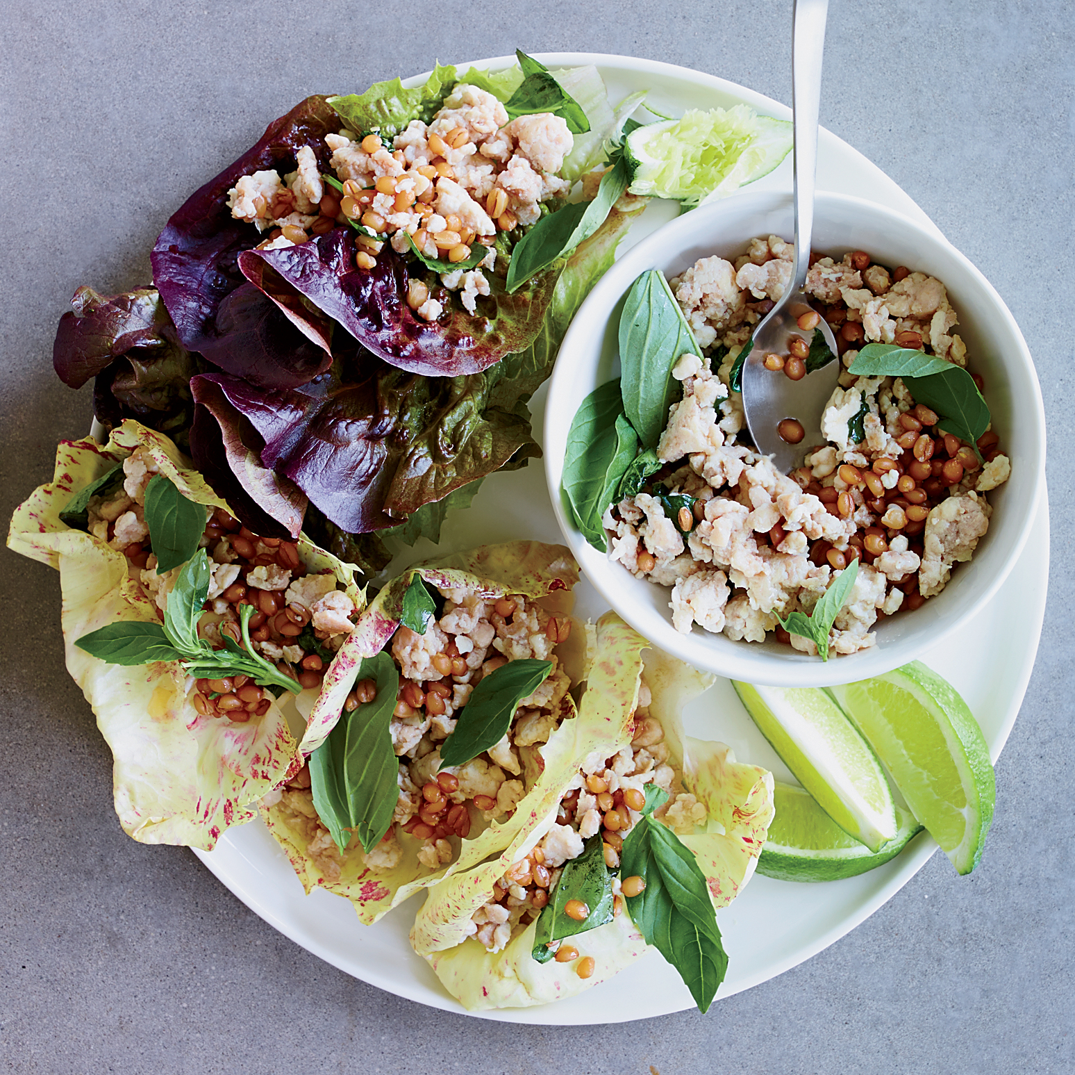 Thai Chicken and Wheat Berry Salad