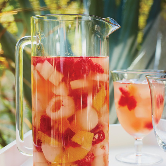 Riesling Sangria with Lychees