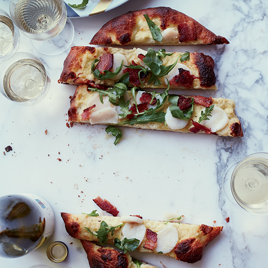 Scallop-and-Bacon Pizza (40 minutes)