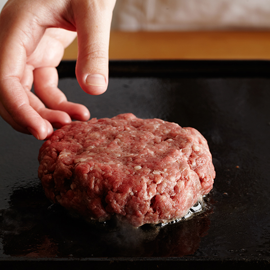 How to Make Umami Burgers:  Add to Griddle