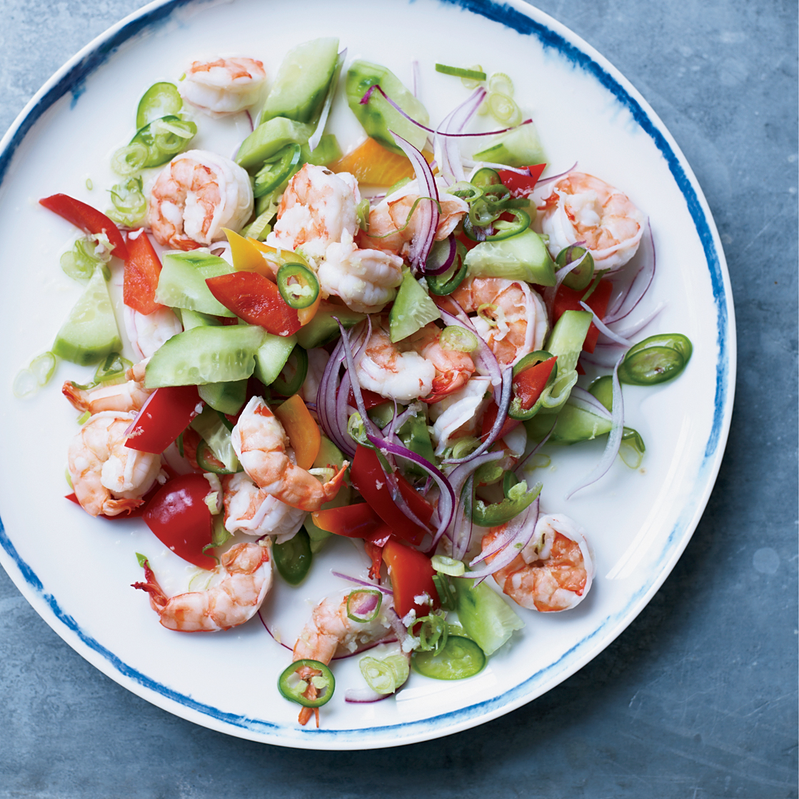 Poached Shrimp with Coconut Water and Lime