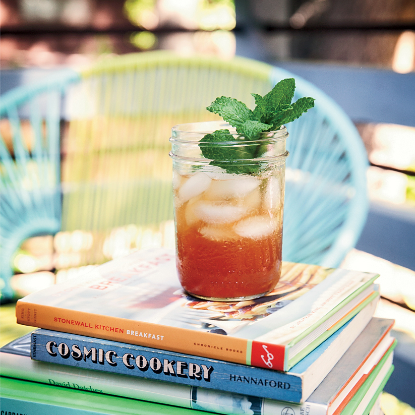Mint Iced Tea with Cocoa Nib Syrup