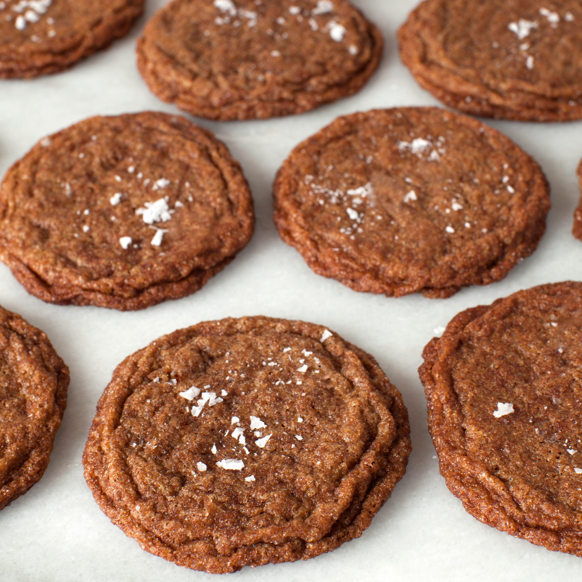 Chewy Cinnamon-Spelt Cookies with Sea Salt