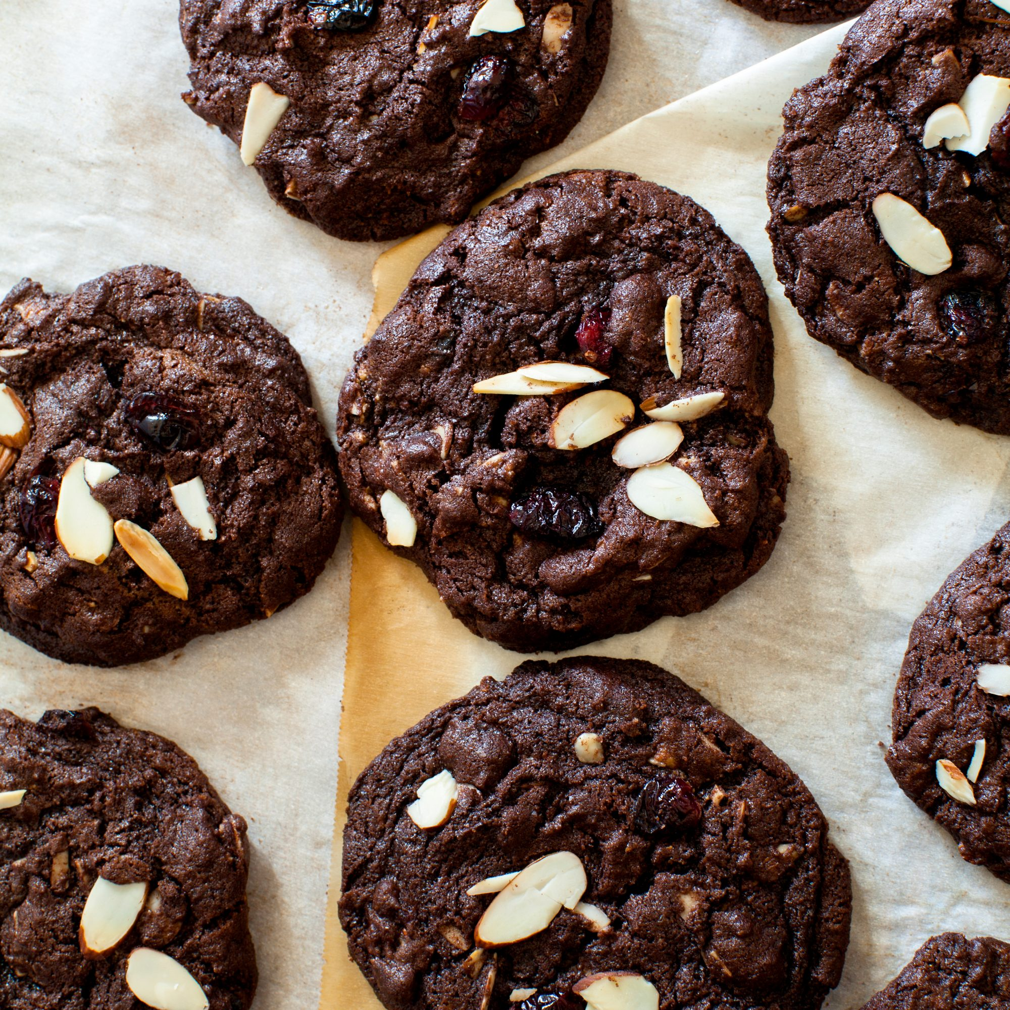 Chocolate-Cherry Almond Butter Cookies