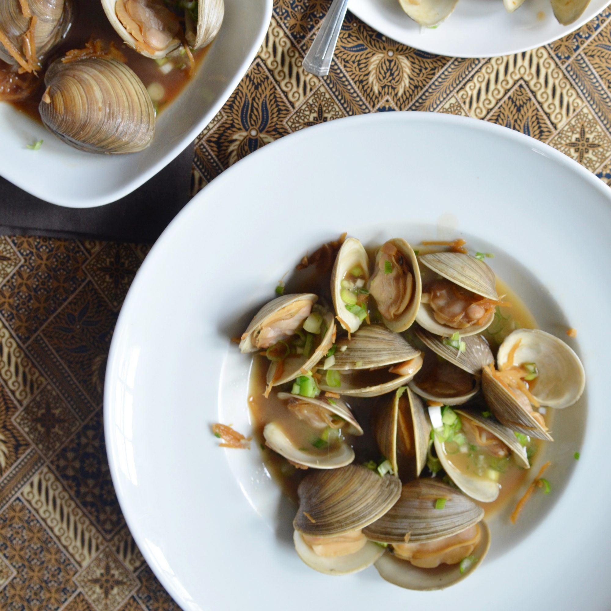 Manila Clams with Soy Butter