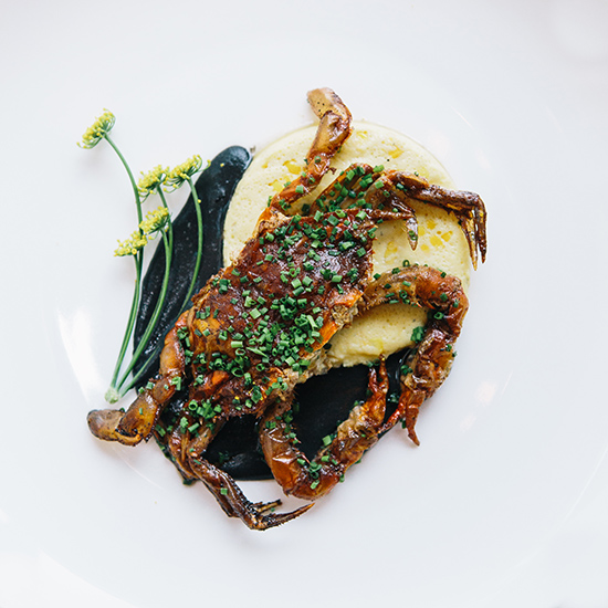 Mintwood Place's Wood-Grilled Soft-Shell Crab