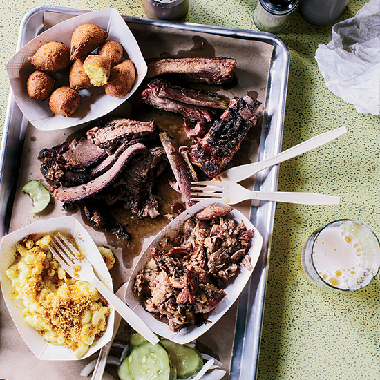 The Meat Coma Platter at Salvage BBQ