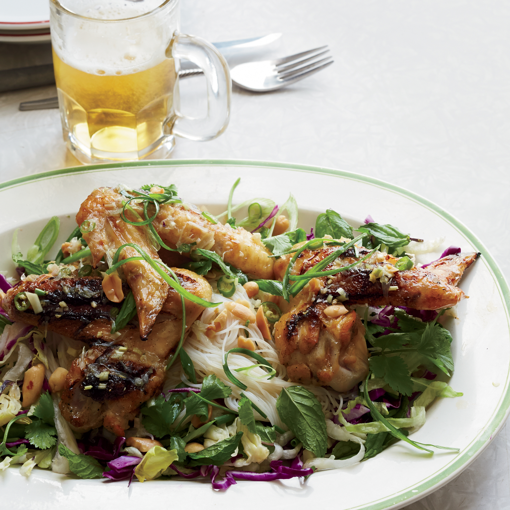 Spicy Fish Sauce Chicken Wings with Vermicelli Salad