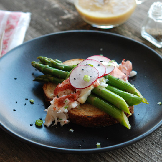 Lobster-and-Asparagus Salad with Miso-Mustard Vinaigrette