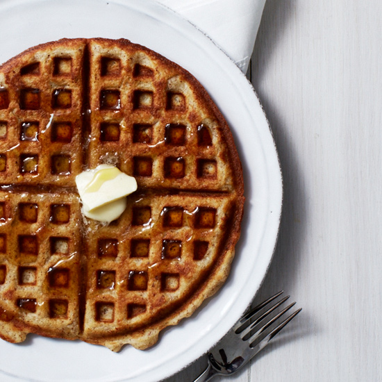 Finely ground roasted almonds add terrific flavor to these crispy buttermilk waffles.
