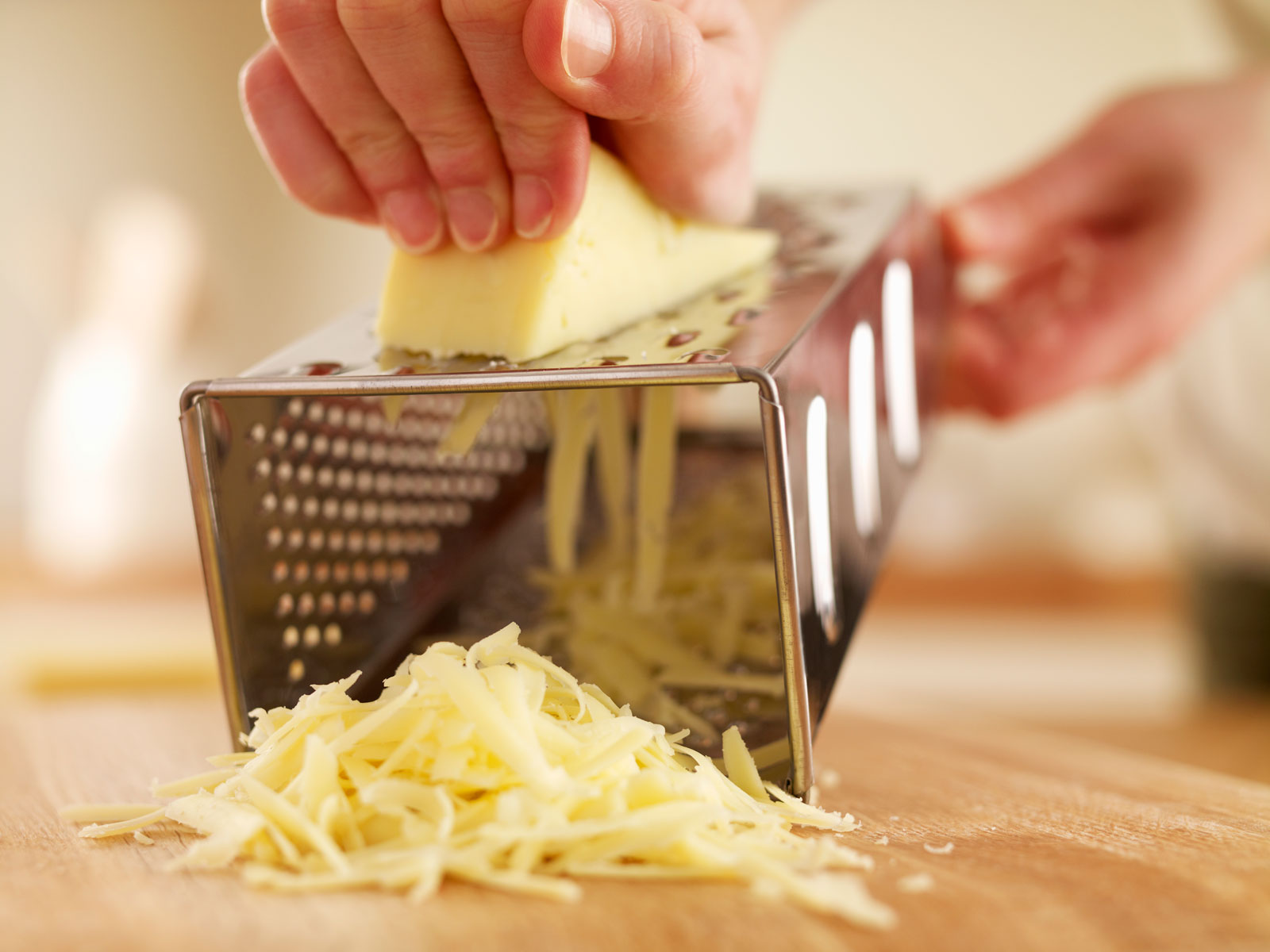 shredded cheese with grater