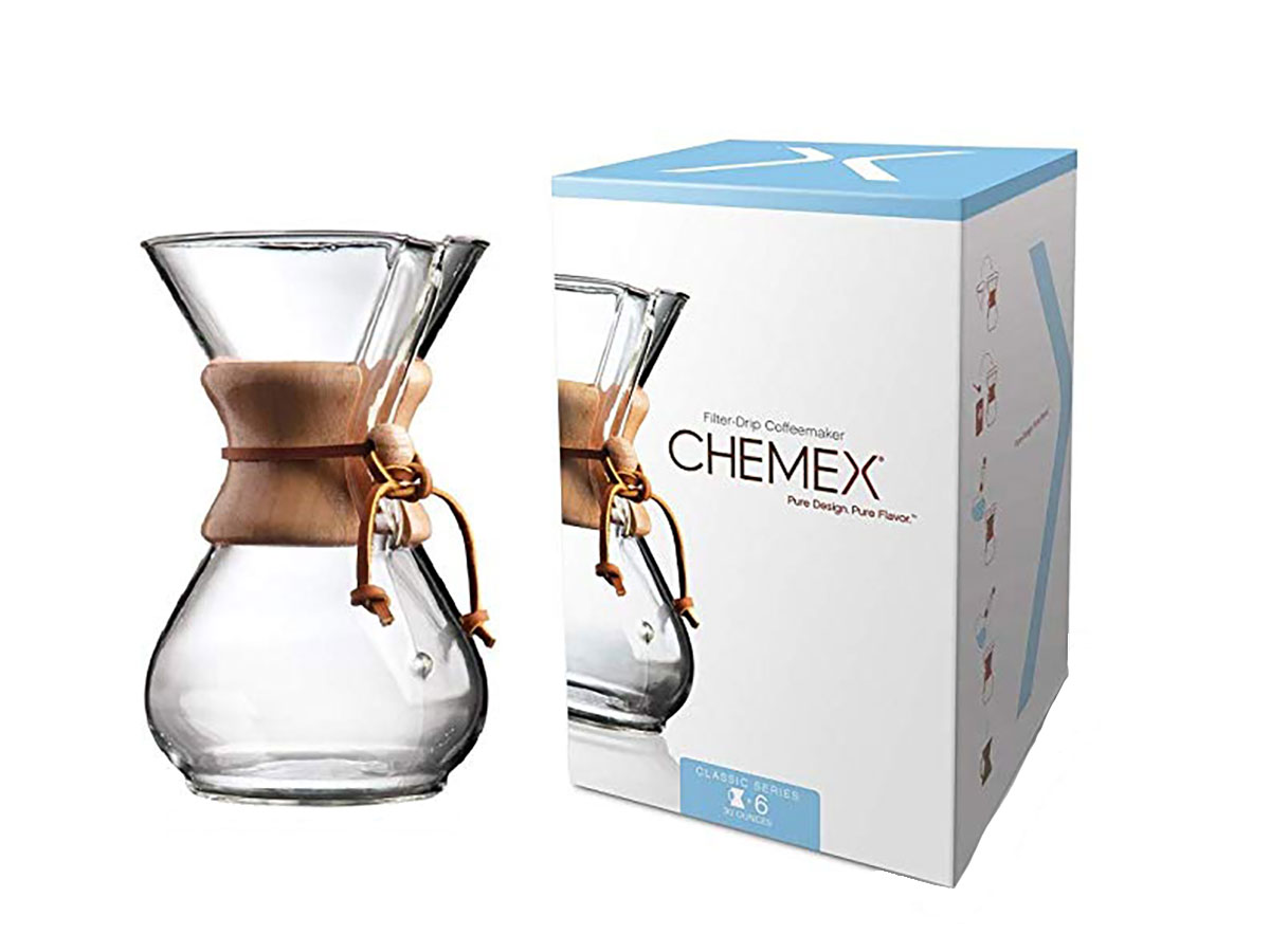 Chemex Classic Series, Pour-over Glass Coffeemaker, 6-Cup