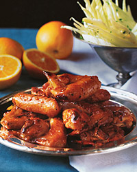 Orange-Glazed Chicken Wings