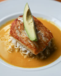 Sauteed Snapper with Sofrito Coconut Emulsion