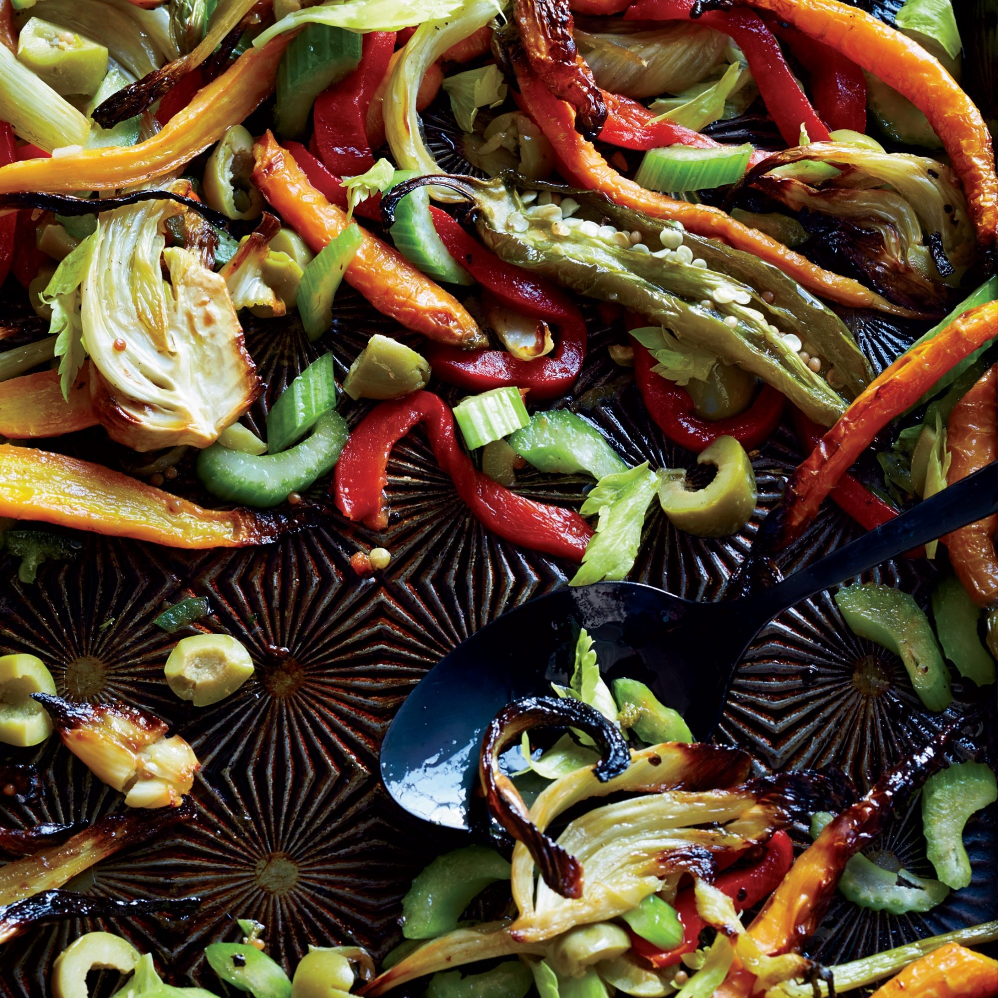 Giardiniera-Style Roasted Vegetables
