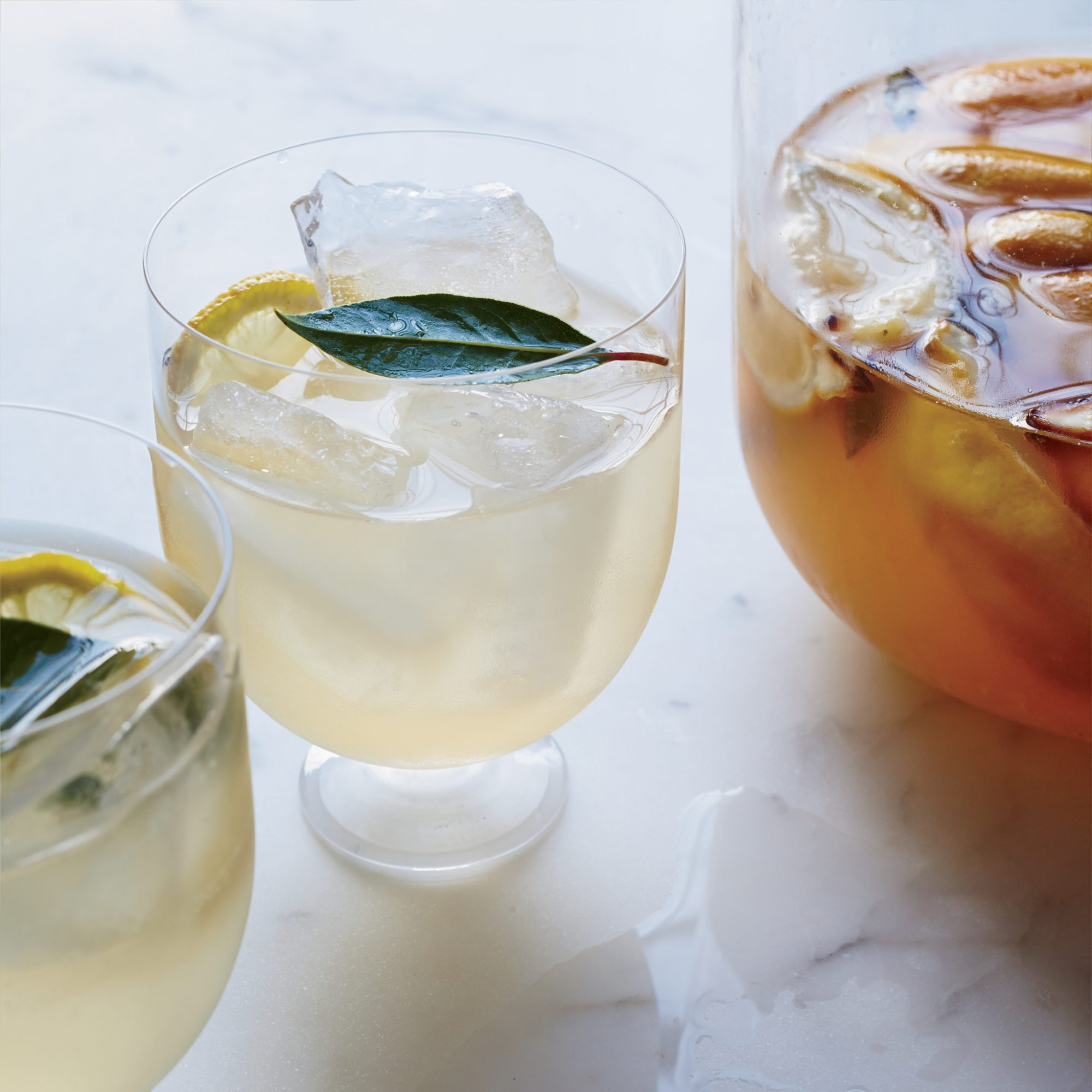Roasted Lemon and Bay Leaf Hard Lemonade