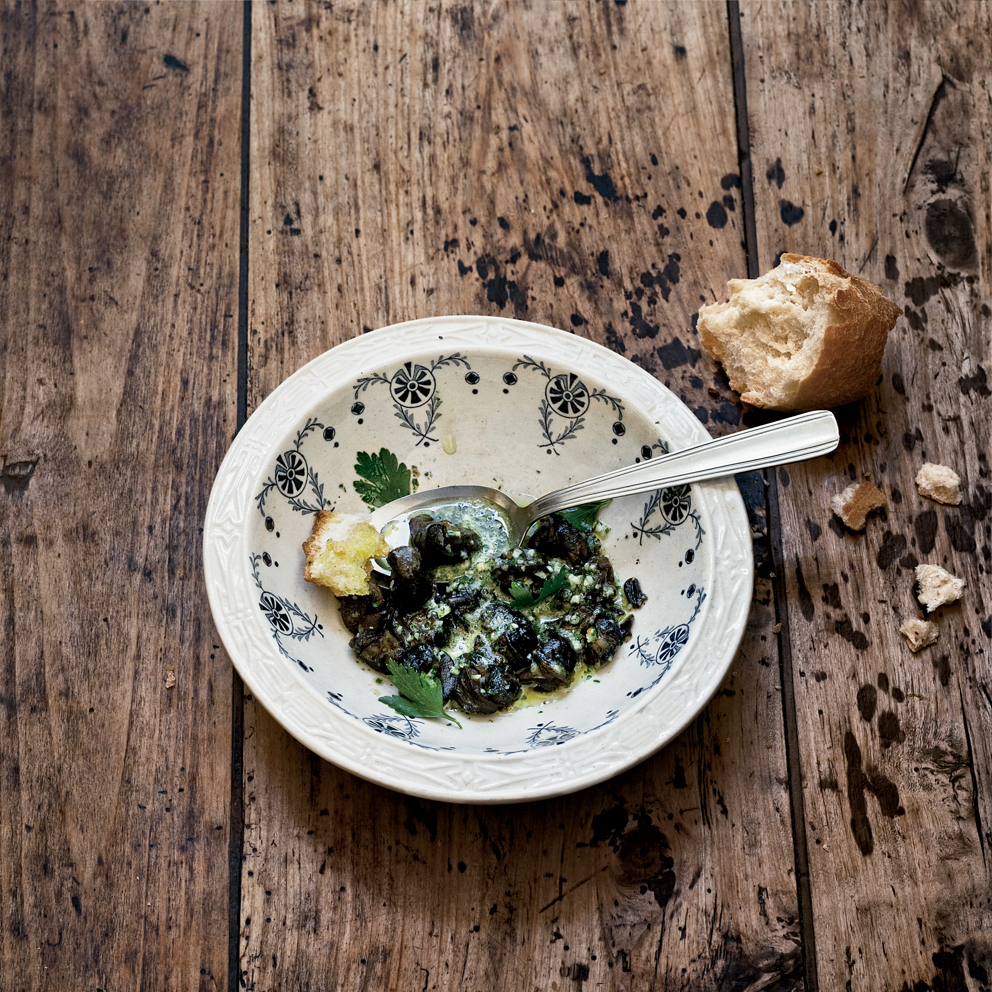 Snails in Parsley Butter