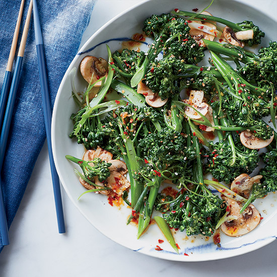 Broccolini, Mushroom and Sesame Salad