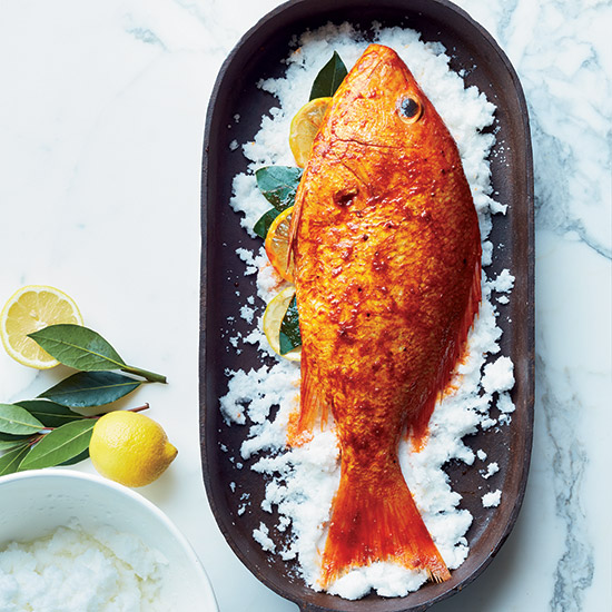 Pimenton-Roasted Red Snapper with Herb Salad
