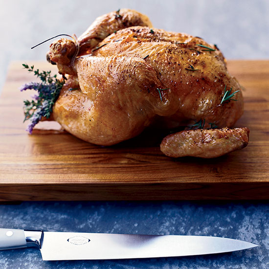 Roast Chicken with Herb Jus