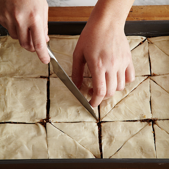 How to Make Baklava: Cut Pastry