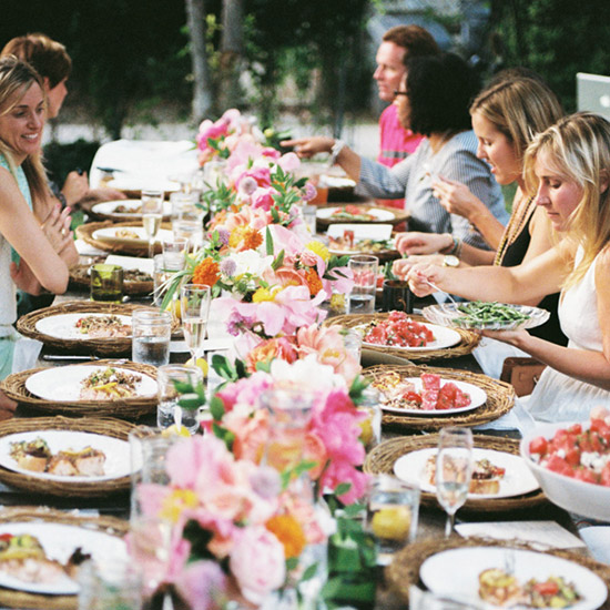 Dinner Table with Flowers